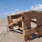 St. Peter Ording - Holzteil am Strand